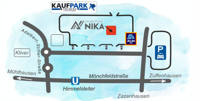 Lageplan im Kaufpark Freiberg